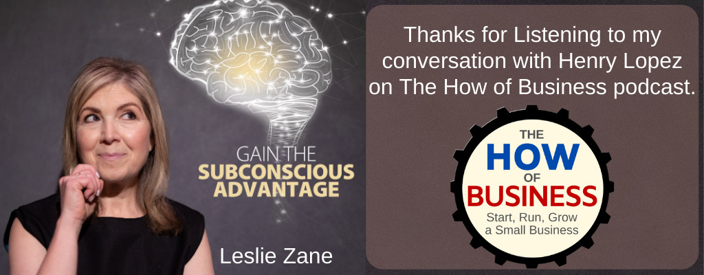 Leslie Zane Strategy Business of How Podcast
